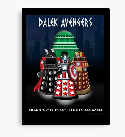 Marvel at the Su-WHO-per-heroes Canvas Print