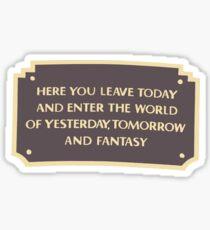 DL Entrance Plaque Sticker