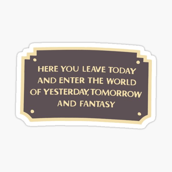 DL Entrance Plaque Sticker