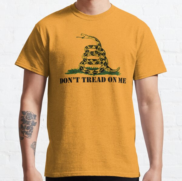 Republican Conservative Gifts - Gadsden Flag Don't Tread on Me Gift Ideas for Patriotic Right Wing American Republicans Classic T-Shirt