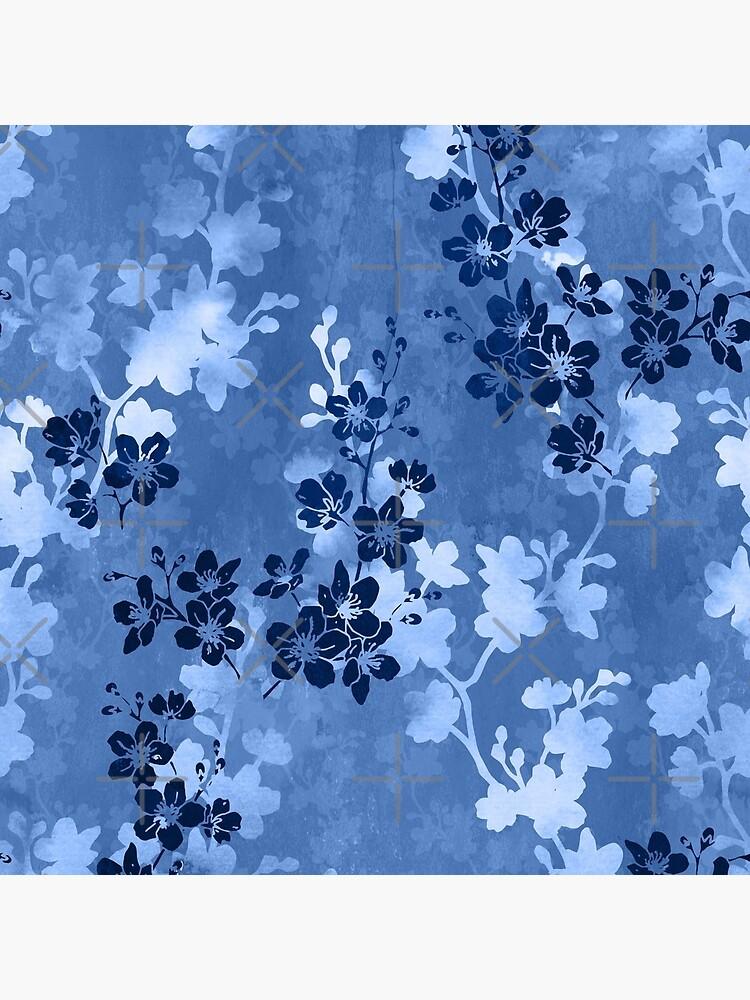 Sakura blossom in blue by adenaJ