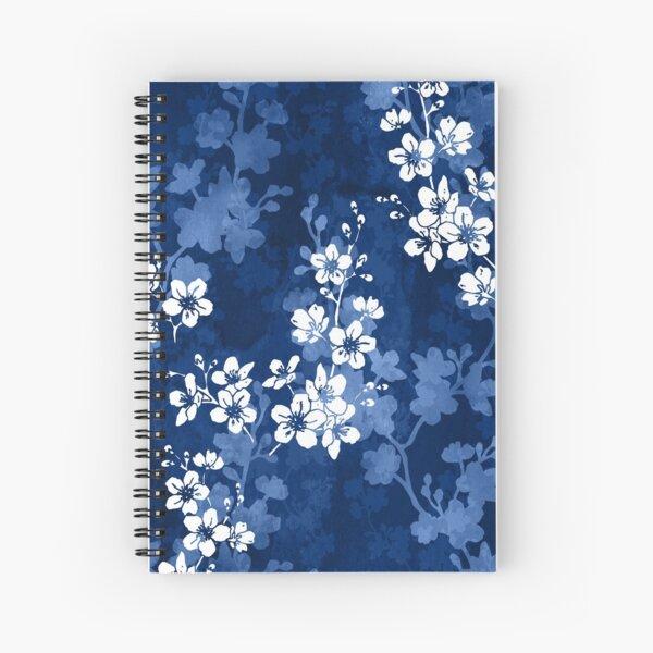 Sakura blossom in deep blue Spiral Notebook