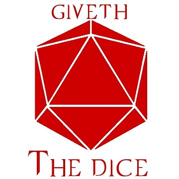 The Dice Giveth(Red) by jomacatopa