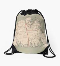 Vintage Map of Martha's Vineyard (1891) Drawstring Bag