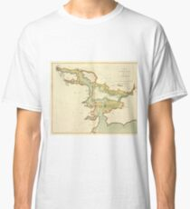 Vintage Map of Cork Harbor Ireland (1702) Classic T-Shirt