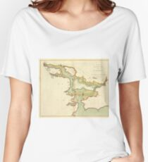 Vintage Map of Cork Harbor Ireland (1702) Women's Relaxed Fit T-Shirt