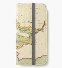 Vintage Map of Cork Harbor Ireland (1702) iPhone Wallet/Case/Skin