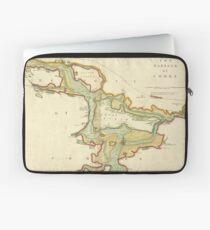 Vintage Map of Cork Harbor Ireland (1702) Laptop Sleeve