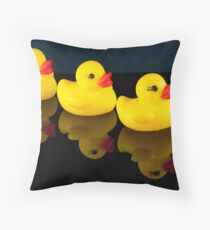 All your ducks in a row Throw Pillow