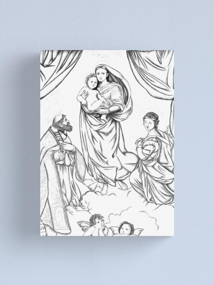 Alternate view of The Sistine Madonna Canvas Print