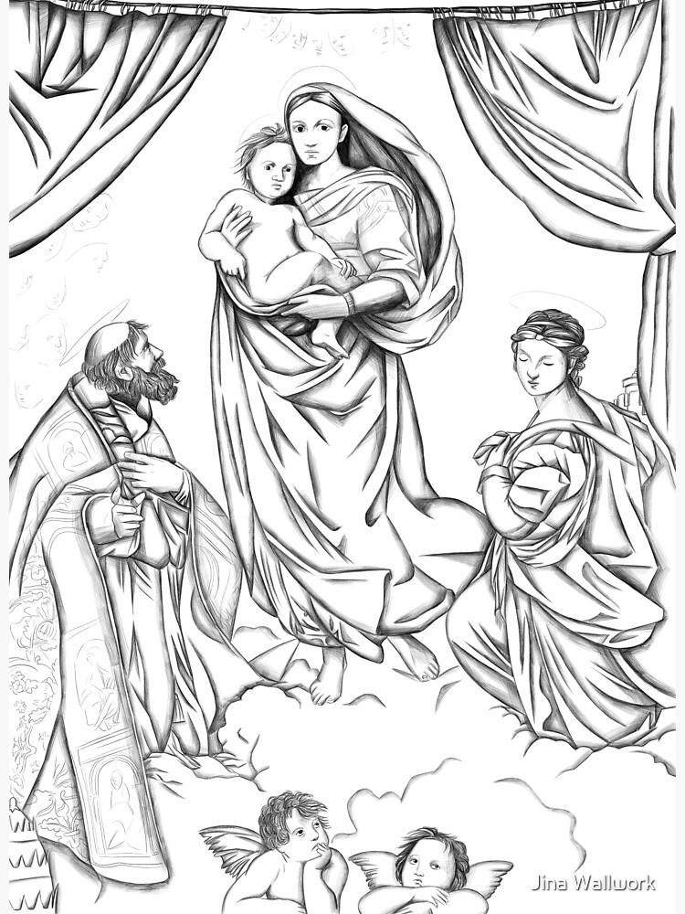 The Sistine Madonna by jinawallwork