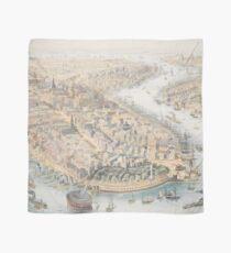 Pañuelo Mapa pictórico vintage de la ciudad de Nueva York (1852)