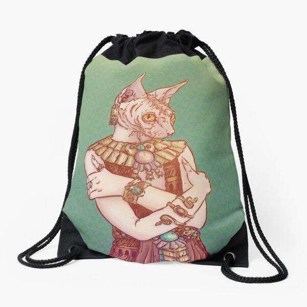 Safiya The Sphynx Cat Drawstring Bag