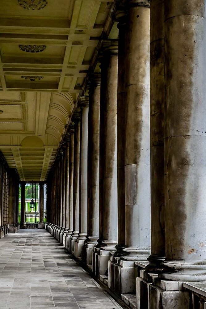 The columns of the Old Naval College in Greenwich, London by Luke Farmer