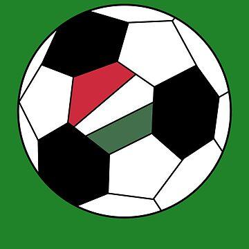 Hungarian Soccer Ball - Hungarian Football - Hungarian Flag by Natalia-Art
