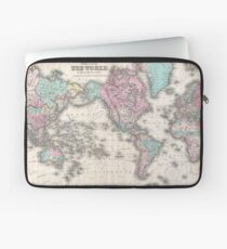 Vintage Map of The World (1855) Laptop Sleeve