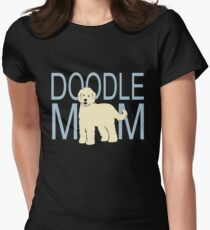 Doodle Mom | Goldendoodle Labradoodle | NickerStickers on Redbubble Women's Fitted T-Shirt