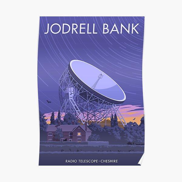 Jodrell Bank Radio Telescope Poster
