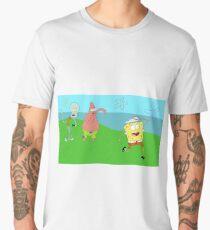 Regular Sponge (Spongebob/Regular Show Mashup) Men's Premium T-Shirt