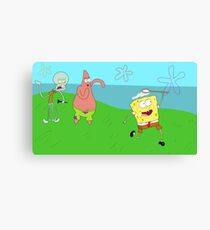 Regular Sponge (Spongebob/Regular Show Mashup) Canvas Print
