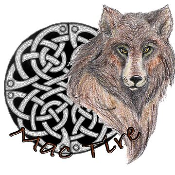 Celtic word Mac Tire means Wolf  by KamiC36
