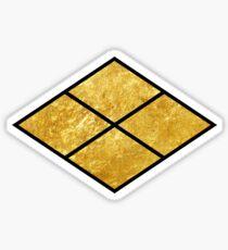 Takeda kamon Japanese samurai clan in faux gold Sticker