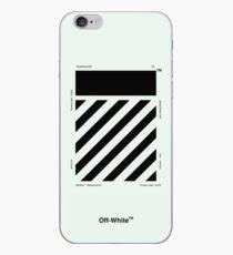 Off-White Diagonals Temperature (Teal) iPhone Case