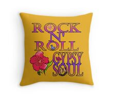 Rock N' Roll Gypsy Soul Throw Pillow