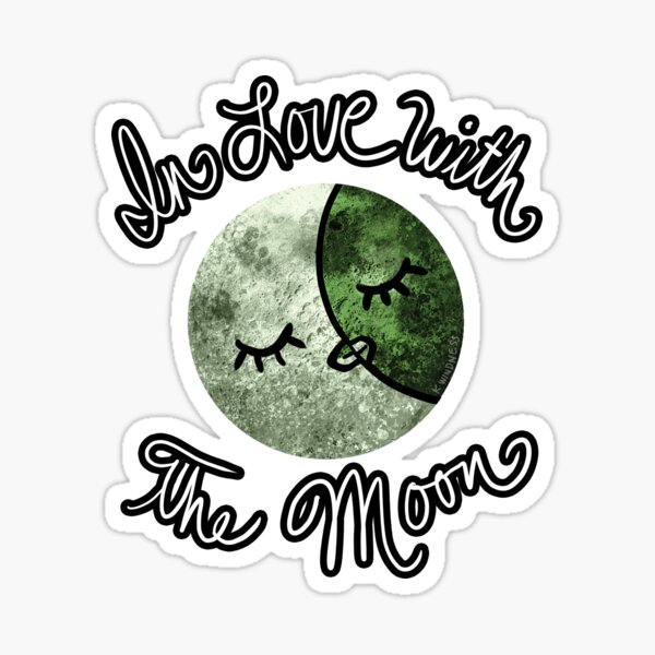 In Love with the Moon Sticker