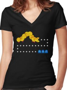 The Very Hungry Pacapillar - Variant Women's Fitted V-Neck T-Shirt