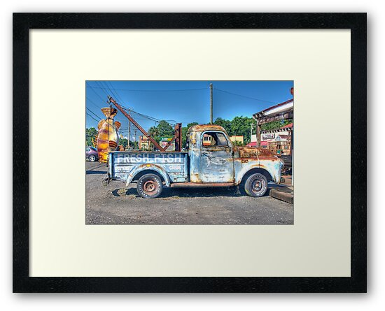 FRESH FISH - OLD TRUCK by TJ Baccari Photography