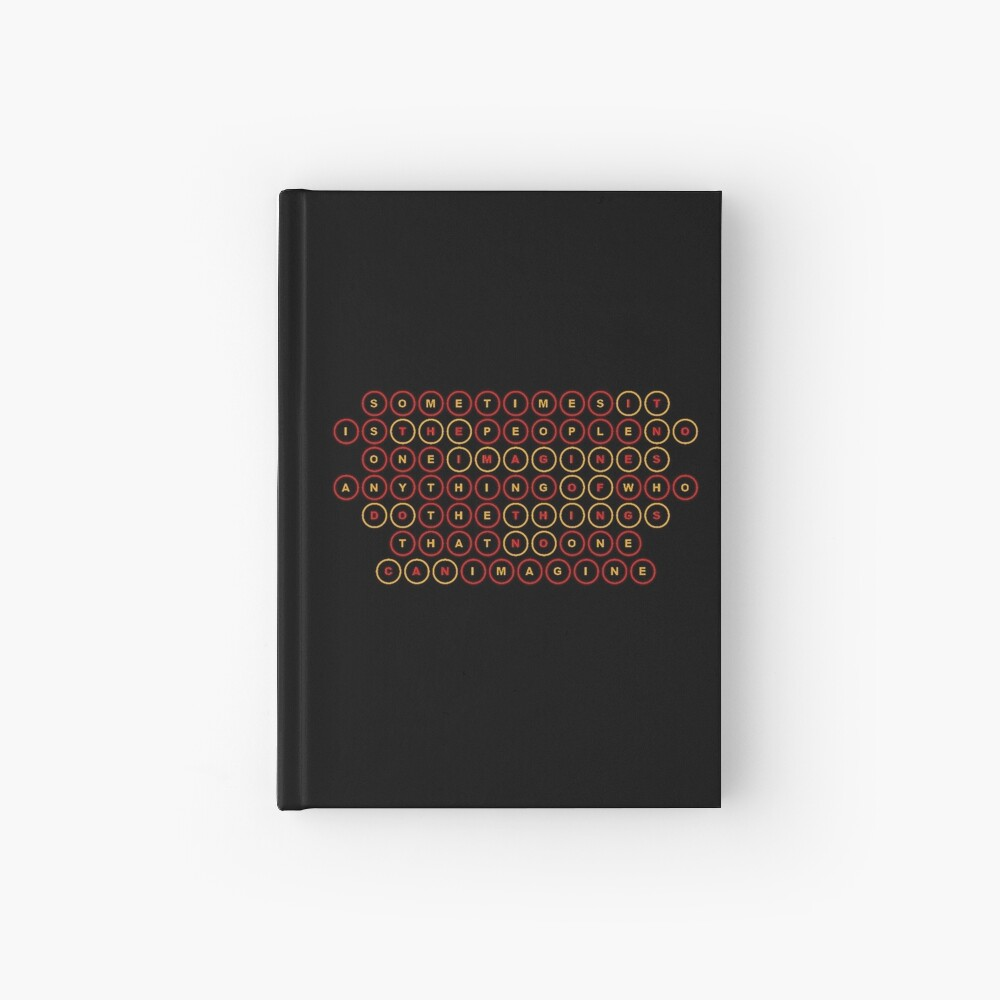 """The Imitation Game"" Hardcover Journal By Anklebiter"