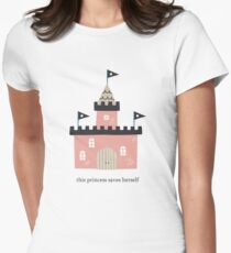 Pink Castle This Princess Saves Herself Women's Fitted T-Shirt
