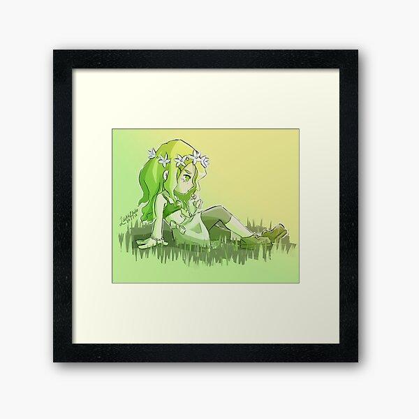 Evelyn, the flower girl Framed Art Print
