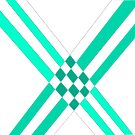 Intersections in turquoise by Anita Morris