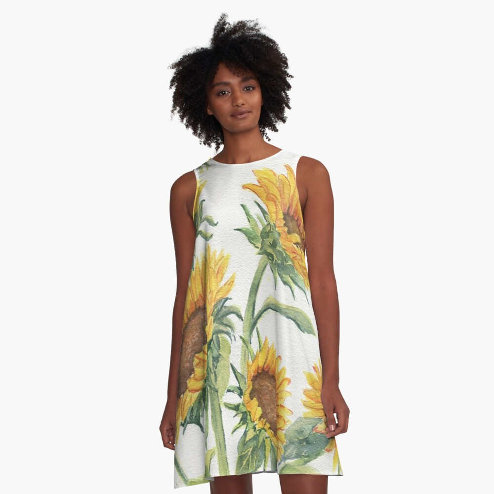 Blooming Sunflowers A-Line Dress