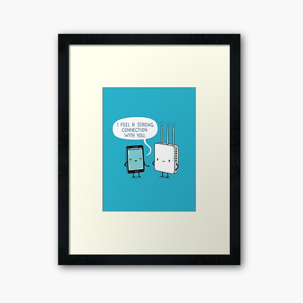 A strong connection Framed Art Print