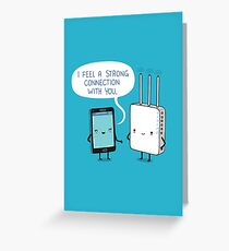 A strong connection Greeting Card