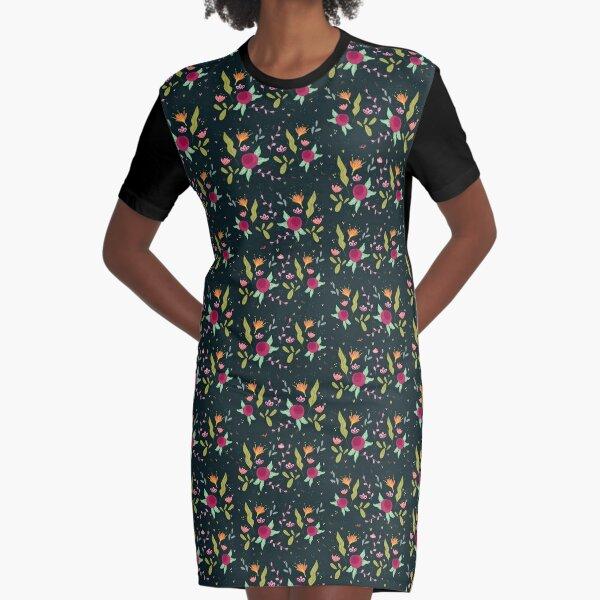 Lau ilustra - Primavera Contrastada Graphic T-Shirt Dress