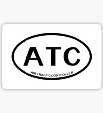 ATC: Air Traffic Controller (White) Sticker