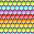 Candy Rainbow Stripes by PatriciaSheaArt