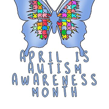 April is Autism Awareness Month with Blue Butterfly by Greenbaby