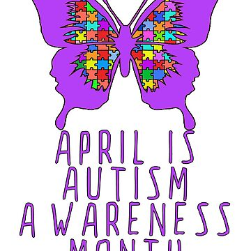 April is Autism Awareness Month with Purple Butterfly by Greenbaby