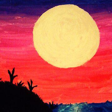 Sunset Moon by themutesinger