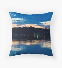 Across River's Rest Throw Pillow