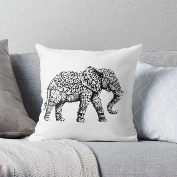 Ornate Elephant 3.0 Throw Pillow