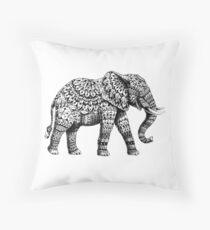 Verzierter Elefant 3.0 Dekokissen