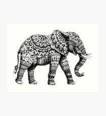 Verzierter Elefant 3.0 Kunstdruck