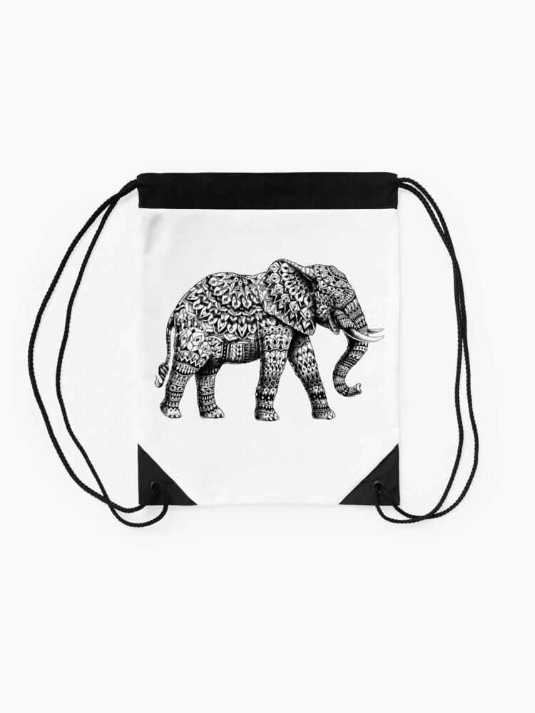 Alternate view of Ornate Elephant 3.0 Drawstring Bag