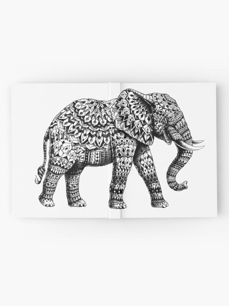 Alternative Ansicht von Verzierter Elefant 3.0 Notizbuch